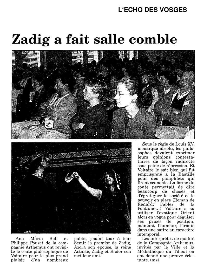 Echo des Vosges : Zadig